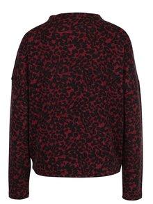 Čierno-vínový vzorovaný sveter VERO MODA Savannah