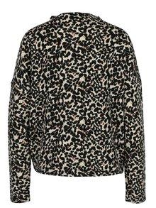 Čierno–béžový vzorovaný sveter VERO MODA Savannah