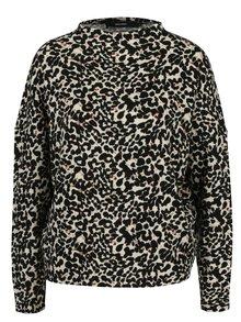 Černo-béžový vzorovaný svetr VERO MODA Savannah