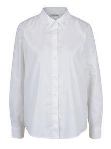 Krémová košeľa s ozdobou na golieri Noisy May Tigi