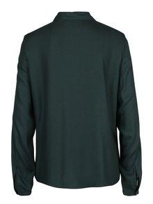 Tmavozelená košeľa s čipkou na rukávoch VERO MODA Banja