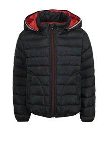 Čierna chlapčenská prešívaná zimná bunda Name it Moni