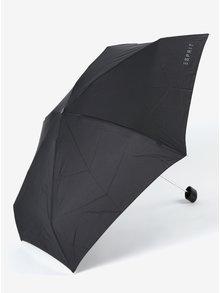 Černý dámský skládací deštník s pouzdrem Esprit