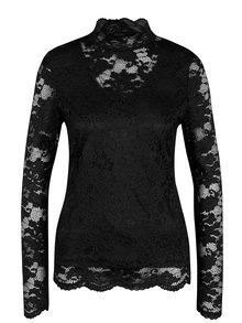 Bluza neagra din dantela cu decolteu translucid - VERO MODA Joy