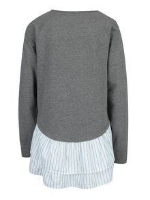Bluza gri cu aspect 2 in 1 si croi asimetric -Noisy May Liebe