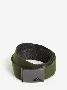 Tmavě zelený pánský textilní pásek Quiksilver