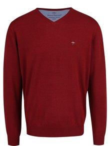 Červený svetr s véčkovým výstřihem Fynch-Hatton