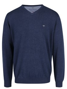 Tmavě modrý svetr s véčkovým výstřihem Fynch-Hatton
