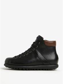 Čierne pánske kožené členkové topánky Camper