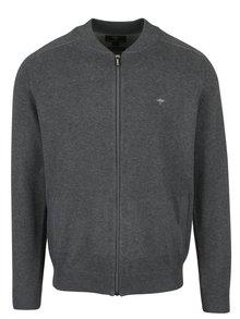 Tmavě šedý cardigan na zip Fynch-Hatton