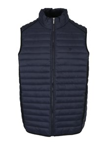 Tmavě modrá prošívaná vesta Fynch-Hatton