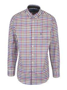 Krémovo-červená kostkovaná košile s náprsní kapsou Fynch-Hatton