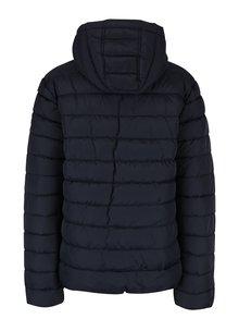 Tmavomodrá dámska prešívaná bunda s kapucňou QS by s.Oliver
