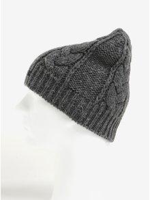 Tmavě šedá dámská vlněná čepice Calvin Klein Elza
