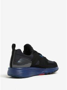 Modro-černé pánské kožené sportovní tenisky Camper