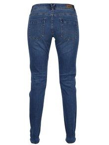 Modré dámské super skinny džíny s vyšisovaným efektem s.Oliver
