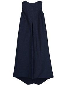 Vesta rochie lunga balon bleumarin din denim Bianca Popp
