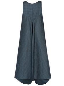 Vesta rochie lunga balon turcoaz inchis Bianca Popp