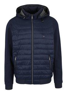 Tmavě modrá prošívaná bunda s kapucí Fynch-Hatton