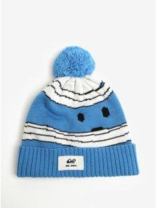 Krémovo-modrá chlapčenská čapica s brmbolcom Quiksilver