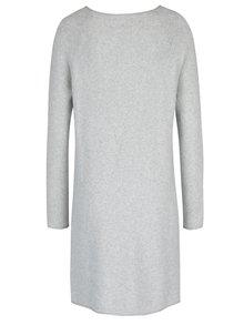 Světle šedé žíhané svetrové šaty ONLY Celia