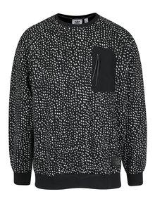 Černá pánská vzorovaná mikina s kapsou adidas Originals Crew