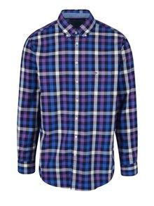 Fialovo-modrá kostkovaná košile Fynch-Hatton