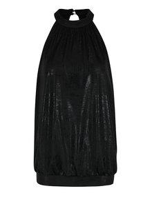 Čierny voľný lesklý top ONLY Kailee