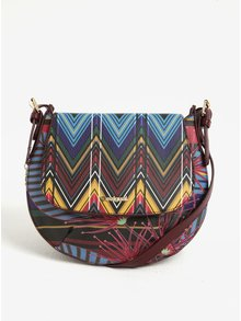 Geanta crossbody multicolora Desigual Genova Stripes