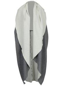 Sivá dlhá okrúhla vesta Bianca Popp
