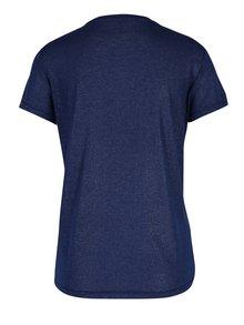Tricou albastru cu fir metalic si print text ONLY Shiny