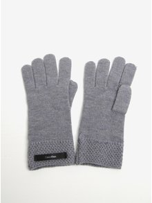 Světle šedé dámské vlněné rukavice Calvin Klein Emma