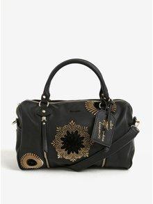Černá vzorovaná kabelka do ruky/crossbody kabelka Desigual Sidney Rubi