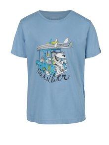 Světle modré klučičí regular fit tričko s potiskem Quiksilver