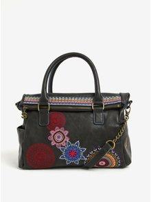 Černá kabelka s ornamenty Desigual Loverty Amber