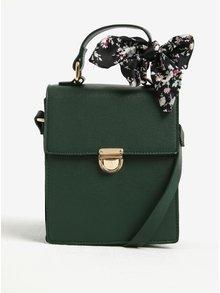Zelená crossbody kabelka s detailmi v zlatej farbe ONLY Dysla