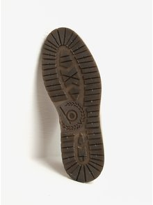 Hnedé pánske kožené členkové topánky bugatti Revel