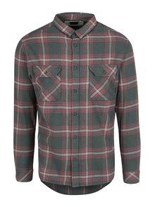 Zeleno-červená pánska flanelová modern fit košeľa Quiksilver