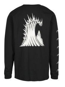 Čierne pánske tričko s potlačou na chrbte Quiksilver