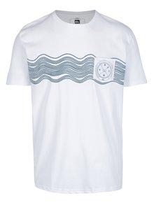 Biele pánske tričko s potlačou Quiksilver
