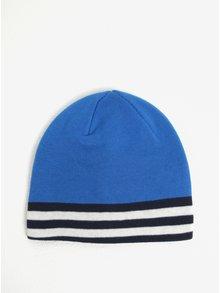Modrá chlapčenská čapica s pruhmi name it Manto