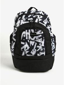 Čierny vzorovaný pánsky batoh Quiksilver 28l