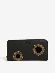 Hnedo–čierna vzorovaná peňaženka s plastickými detailmi Desigual Fiona Rubi
