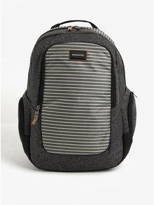 Tmavě šedý pruhovaný pánský batoh Quiksilver 25l