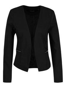 Černé sako s falešnými kapsami VERO MODA Thea