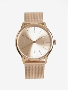 Unisex hodinky v ružovozlatej farbe s remienkom z nehrdzavejúcej ocele CHPO Rawiya