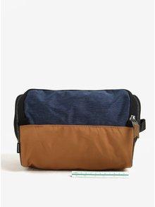 Modro-hnědá pánská hygienická taška Quiksilver