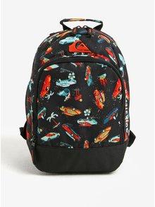 Čierny vzorovaný chlapčenský batoh Quiksilver 12 l