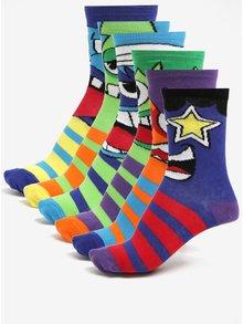 Sada šesti dětských ponožek s motivem příšerek Oddsocks Mashers