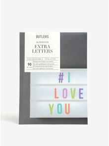 Litere multicolore pentru caseta LED BUTLERS
